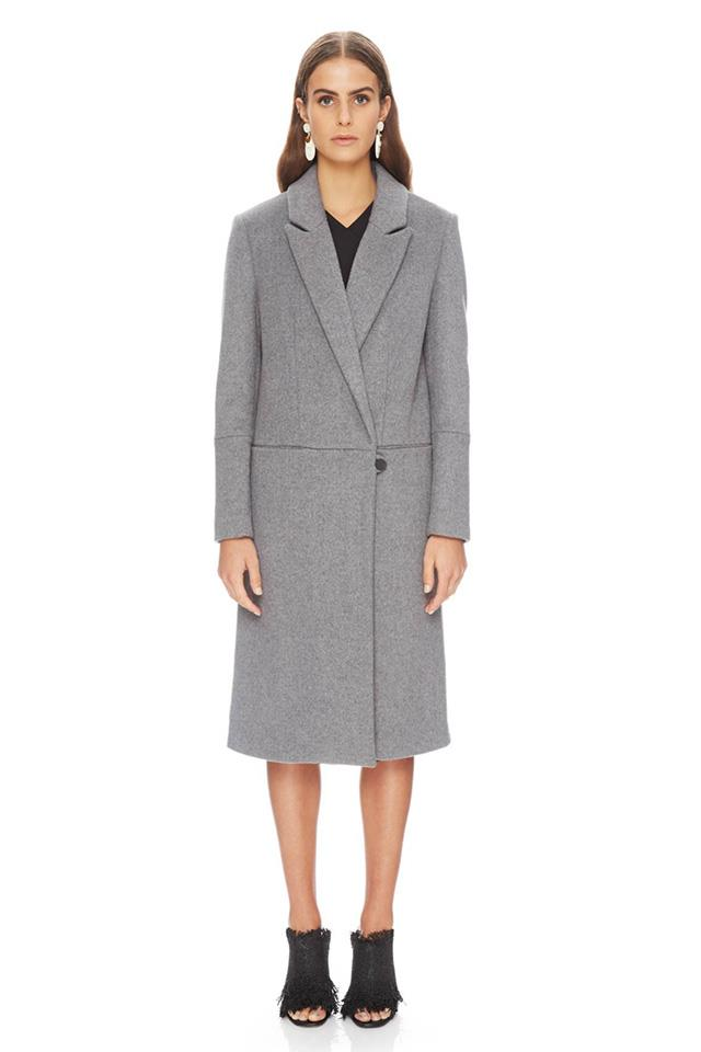 "The Johanna Coat, $490, <a href=""http://ty-lr.com/catalog/product/view/id/99951/s/the-joanna-coat/?color=grey"">Ty-lr</a>"