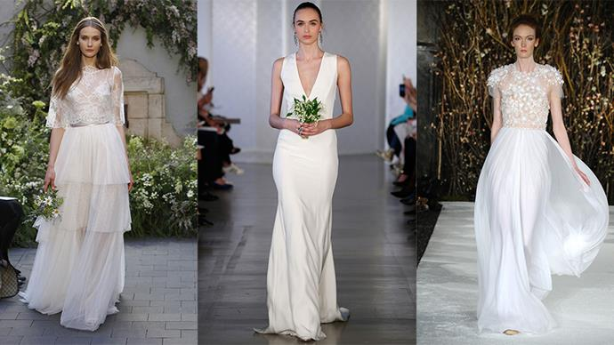 Step inside to see the best wedding dresses dresses, direct from the runways of Spring 2017 Bridal fashion week...