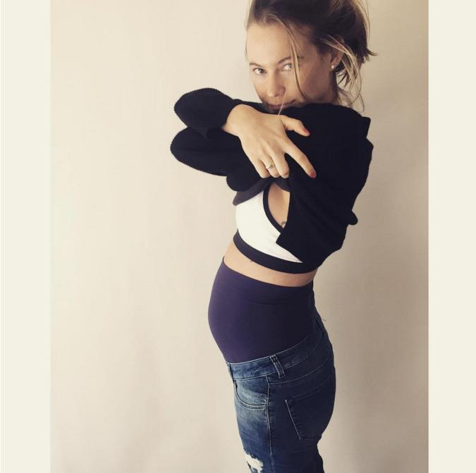 "<strong>April, 2016</strong><br><br> Behati took to Instagram to show off the latest addition to her maternity wardrobe - a pair of stretchy-topped jeans. She captioned <a href=""https://www.instagram.com/p/BEP4_V6QlqL/"">the snap</a> ""Yup took the plunge. First pair of maternity jeans and it feels so good 👖🌸✌🏼️🙈"" #Adorbs."