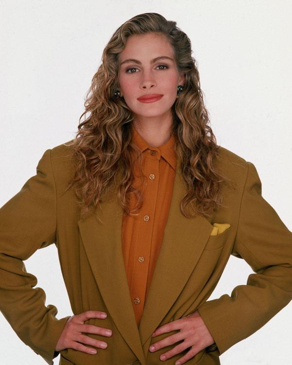 <strong>1989: GELLED CURLS</strong> <br><br> Continuing the trend of heavy product use, Julia Roberts and other celebs gelled their curls for a slick-down style.