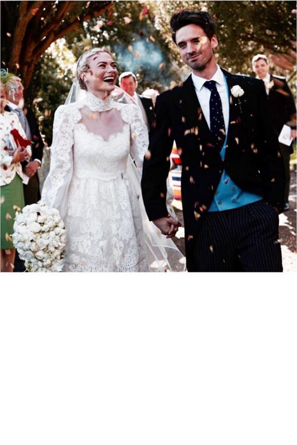 """""""Have never been happier - or seen more drunk people on one dance floor - than I was yesterday. Thank you for my dream dress @alicetemperley my hair @hershesons AND FOR MARRYING ME @ollietritton 😍😍😍 #Pandollie""""<br><br> Instagram: <a href=""""https://www.instagram.com/pandorasykes/"""">@pandorasykes</a>"""