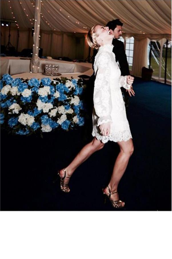 """""""@ollietritton doing the infamous 'sea snake' - thank you for my 241 dress @alicetemperley cleverest thing ever #Pandollie""""<br><br> Instagram: <a href=""""https://www.instagram.com/pandorasykes/"""">@pandorasykes</a>"""
