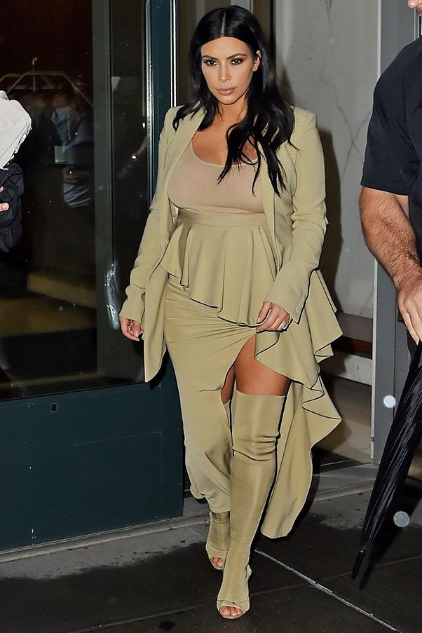 Head-to-toe khaki in New York, September 2015