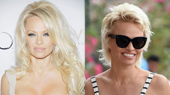 PAMELA ANDERSON <br><br> It was a surprise when Pamela Anderson cut her famous long blonde locks in 2014, but the decision took her from beach-babe to chic.