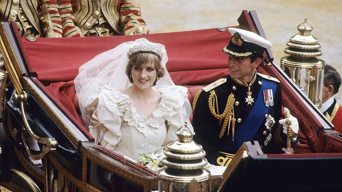 <strong>Princess Diana and Prince Charles</strong> <br><br> <strong>The cake:</strong> The couple had 27 wedding cakes, with the official wedding cake being a baked work of art that took 14 weeks to make (they made two identical cakes in case one was damaged).