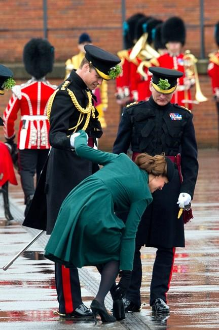 That time Prince William did a Kanye and helped Kate out with her stuck shoe.