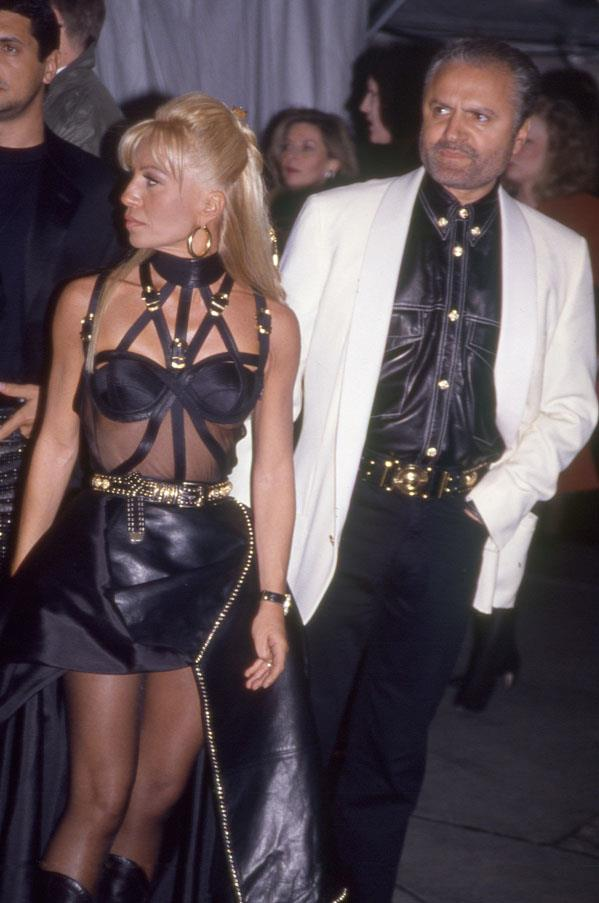 Donatella and Gianni Versace, 1996