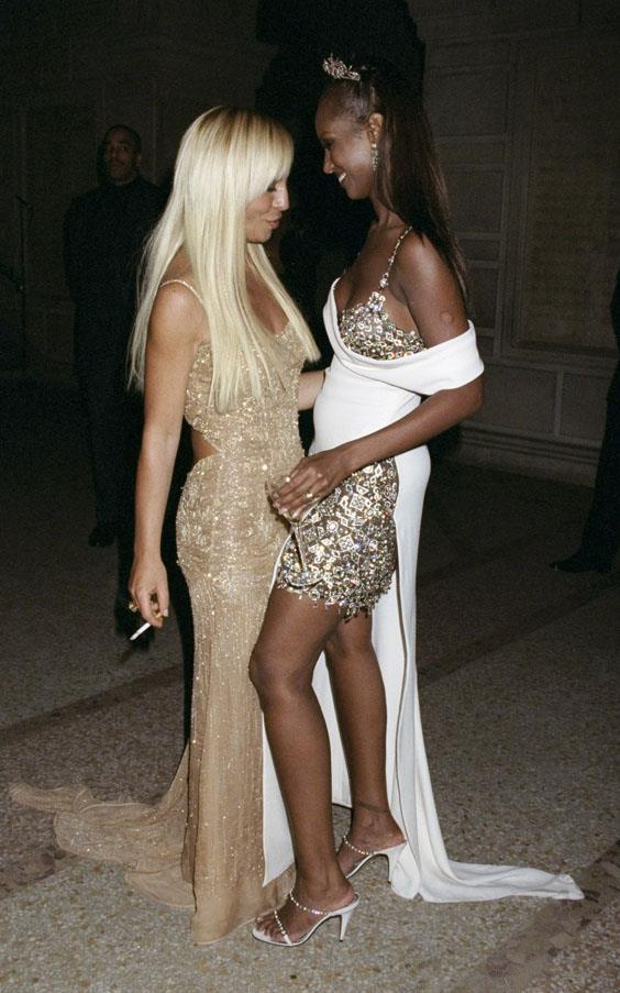 Donatella Versace and Iman, 1997