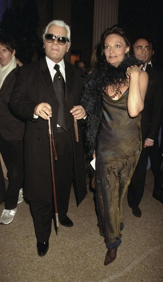 Karl Lagerfeld and Diane von Furstenberg, 1997