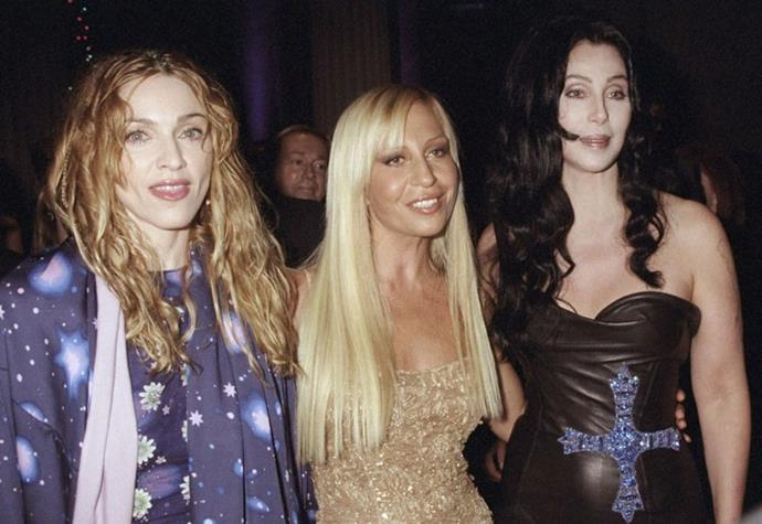 Madonna, Donatella Versace and Cher, 1997