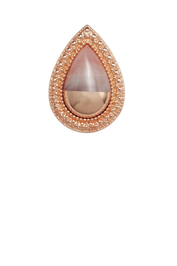 "Samantha Wills Bohemian Bardot ring (100 per cent of proceeds from sales go the McGrath Foundation), $129, <a href=""http://www.samanthawills.com/shop/rings/bohemian-bardot-ring-rose-dipped-rose-quartz.html"">Samantha Wills</a>"