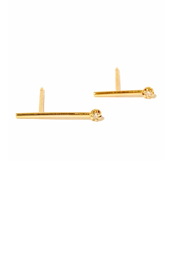 "Sarah & Sebastian diamond line earrings, $295, <a href=""https://www.incu.com/collections/womens-sarah-sebastian/products/sarah-and-sebastian-diamond-line-earrings-gold"">Sarah & Sebastian</a>"