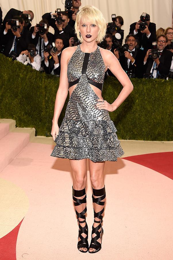 Taylor Swift in custom Louis Vuitton