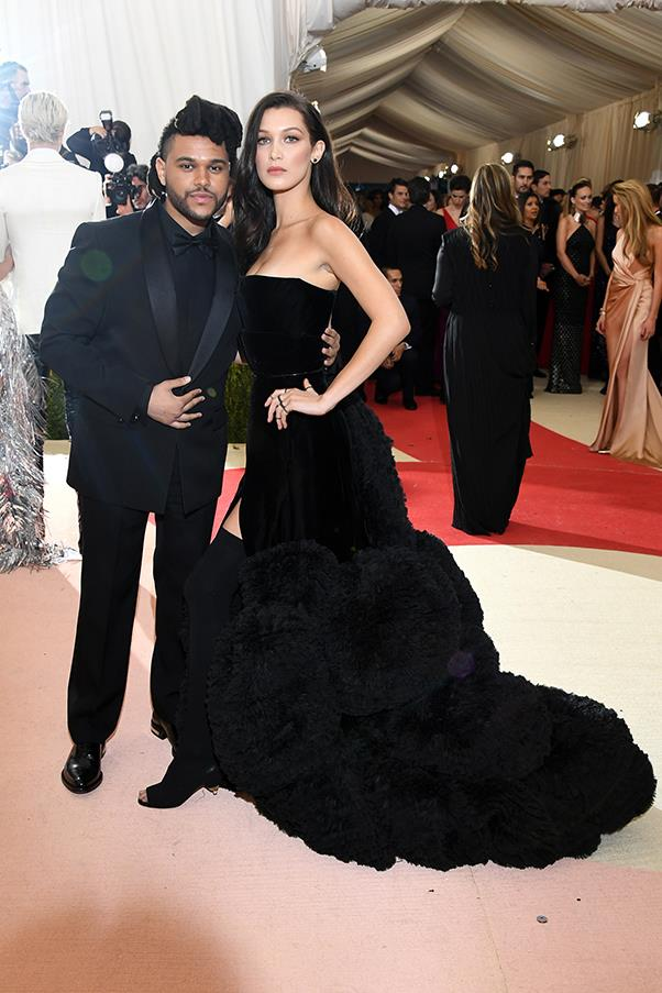 The Weeknd and Bella Hadid in Givenchy