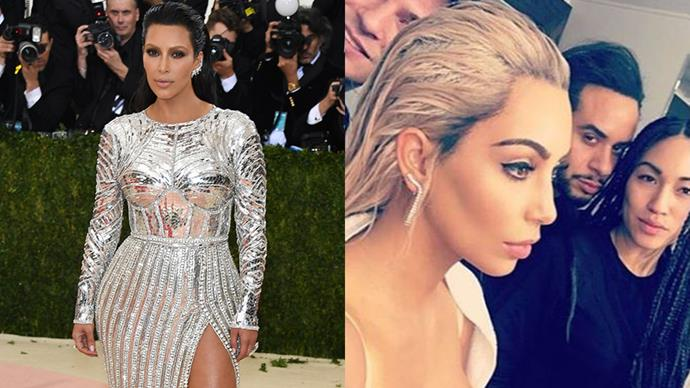 <strong>Kim Kardashian</strong><br><br> Kimmy K had veered down the peroxide blonde route again, debuting a dramatic new 'do on Snapchat. However, knowing the family's proclivity for wigs (here's looking at you Kylie), it could be faux.