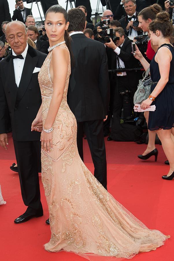 Bella Hadid in Cavalli Couture