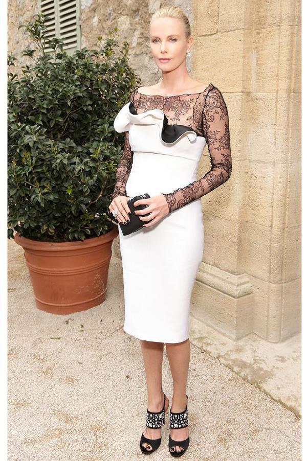 Charlize Theron in Dior at a private Dior event at the Chateau de la Colle Noire