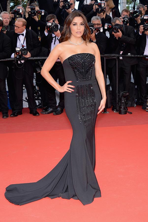 Eva Longoria at the premiere of <em>Money Monster</em>