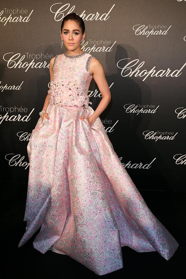 Araya Hargate at the Chopard Trophy ceremony
