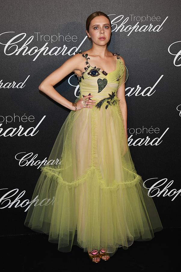 Bel Powley in Gucci at the Chopard Trophy ceremony