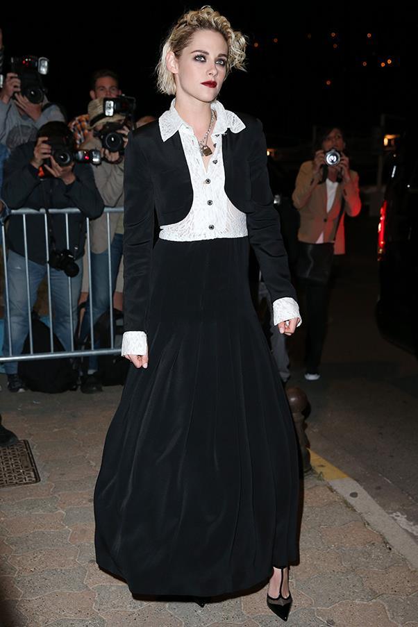 Kristen Stewart at a <em>Vanity Fair</em> dinner