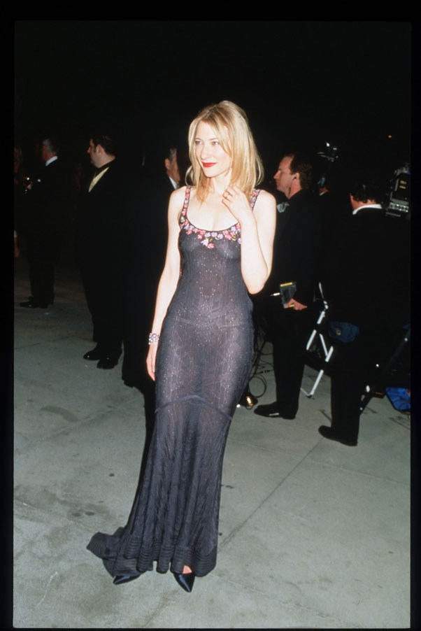 In John Galliano at the <em>Vanity Fair</em> Oscar after party, 1999