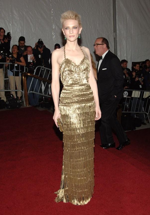 In Balenciaga at the Met Gala, 2007