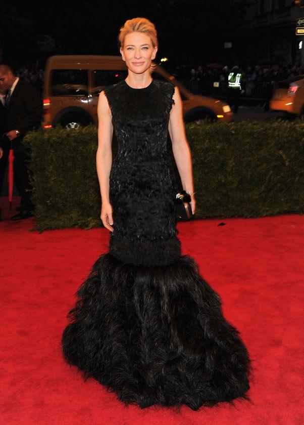 In Alexander McQueen at the Met Gala, 2012