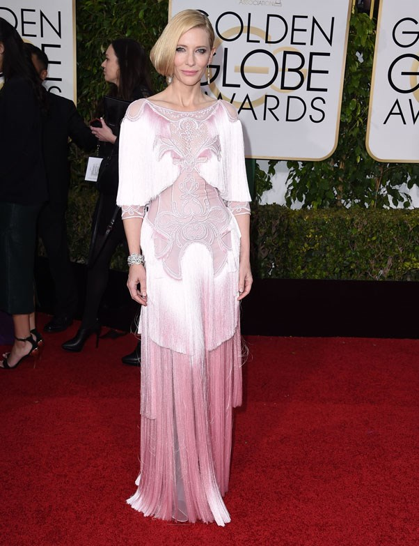 In Givenchy at the Golden Globes, 2016