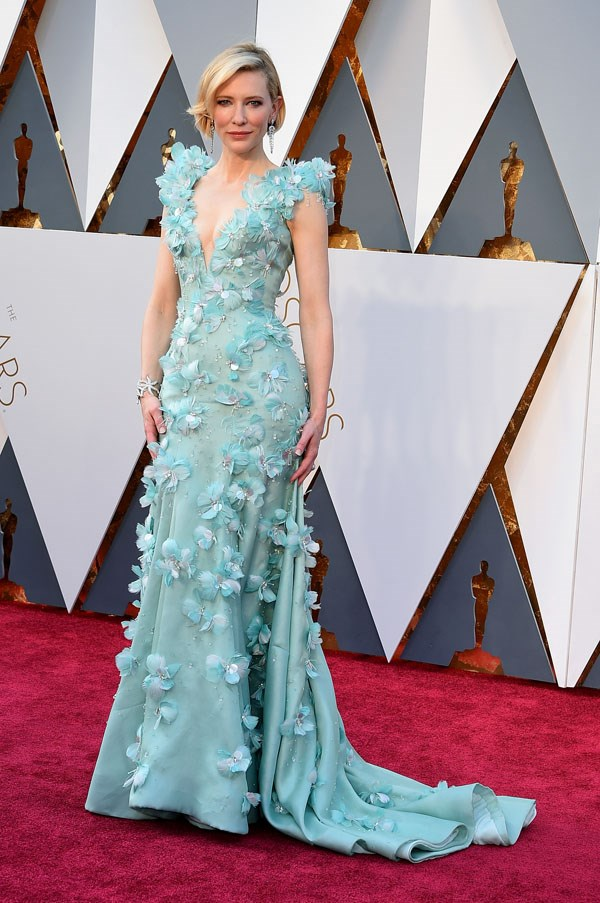 In Armani Privé at the Academy Awards, 2016