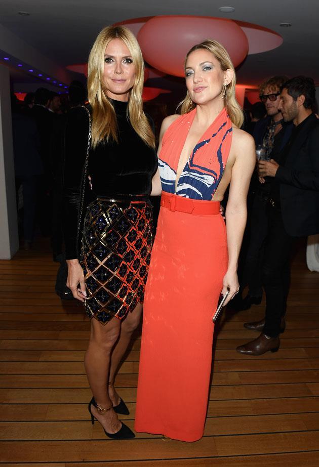 Heidi Klum and Kate Hudson.