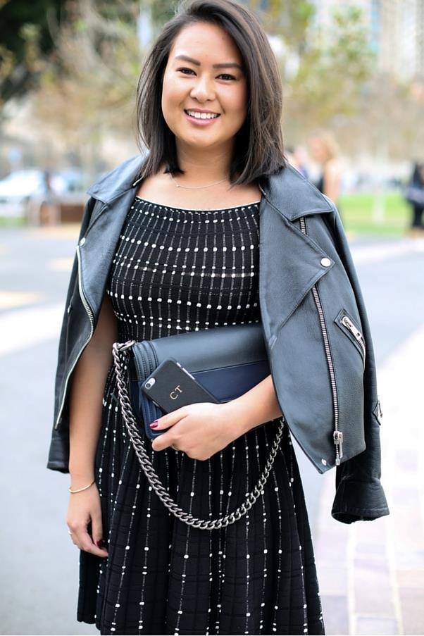 "<em>BAZAAR</em>'s market editor Caroline Tran in Alexander McQueen and Chanel bag<br><br> Image: Courtesy of <a href=""https://www.instagram.com/backstreetbyindia/?hl=en"">Backstreet By India</a>"