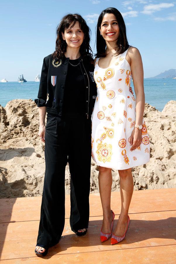 Juliette Binoche and Frieda Pinto.