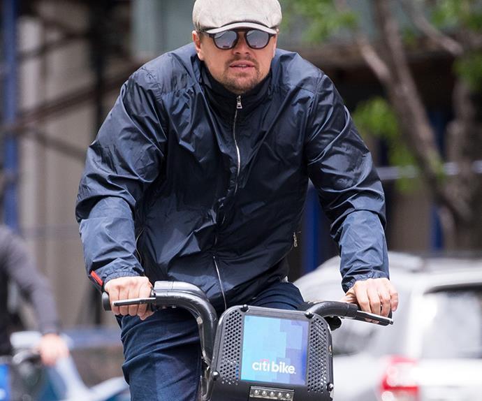 Leonardo DiCapro Bike Riding New Girlfriend