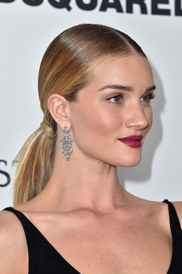<strong>The Centre-Part Pony</strong> <br><br> As seen on Rosie Huntington-Whiteley
