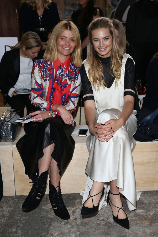 Kellie Hush and Bridget Malcolm front row at Kitx