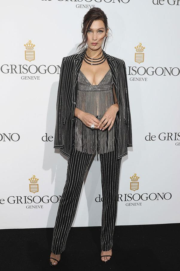<strong>Bella Hadid</strong> <br><br> At the de Grisogono party, in Givenchy
