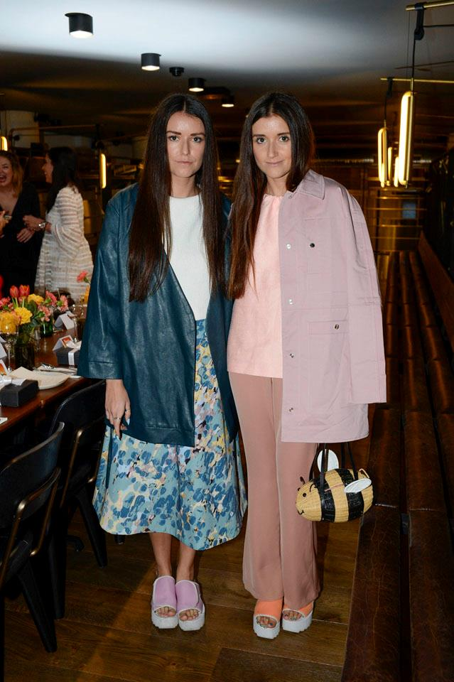 Jess and Stef Dadon, from How Two Live, at the Shopbop dinner