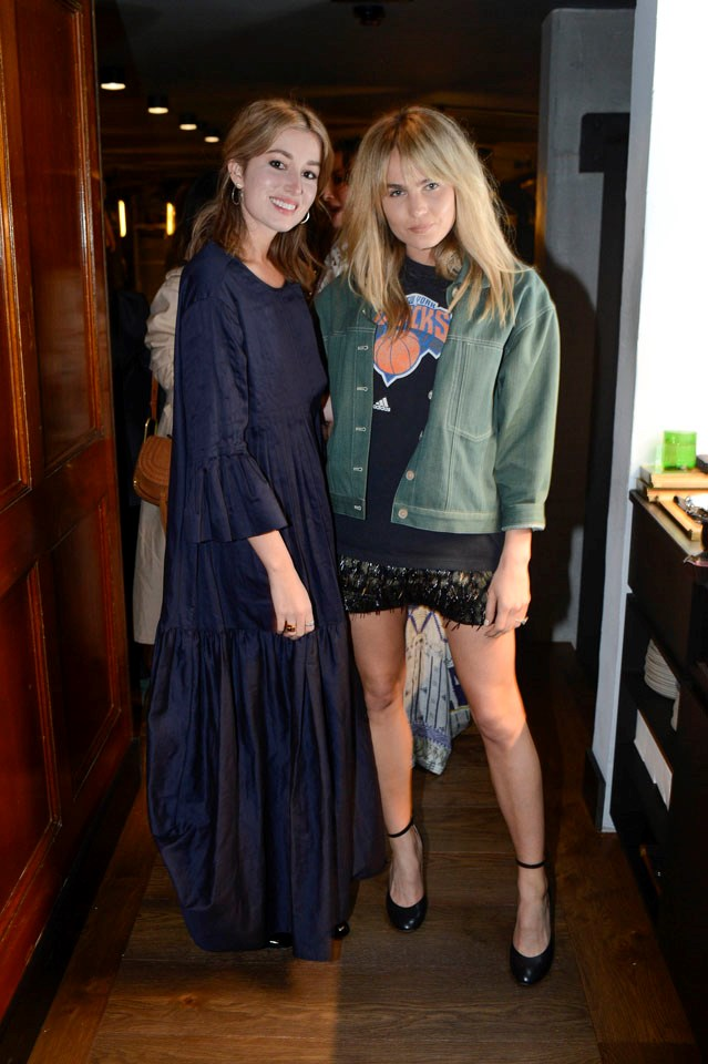 Carmen Hamilton from Chronicles of Her and Brooke Testoni at the Shopbop dinner.