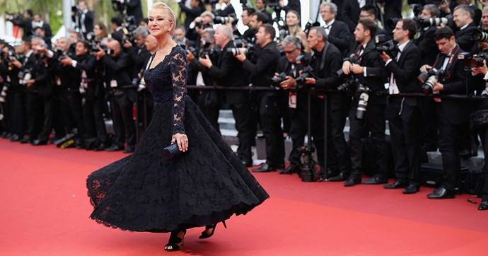 Helen Mirren Falls Cannes 2016