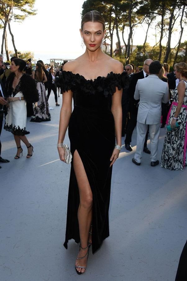 Karlie Kloss <br><br> In a Marchesa dress and Giuseppe Zanotti Design shoes.