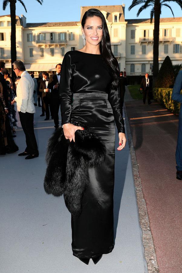Adriana Lima <br><br> In an Alexander Terekov gown, Pologeorgis fur, and Chopard jewellery.