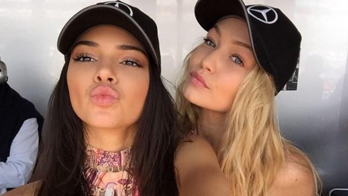 Gigi Hadid Kendall Jenner social media