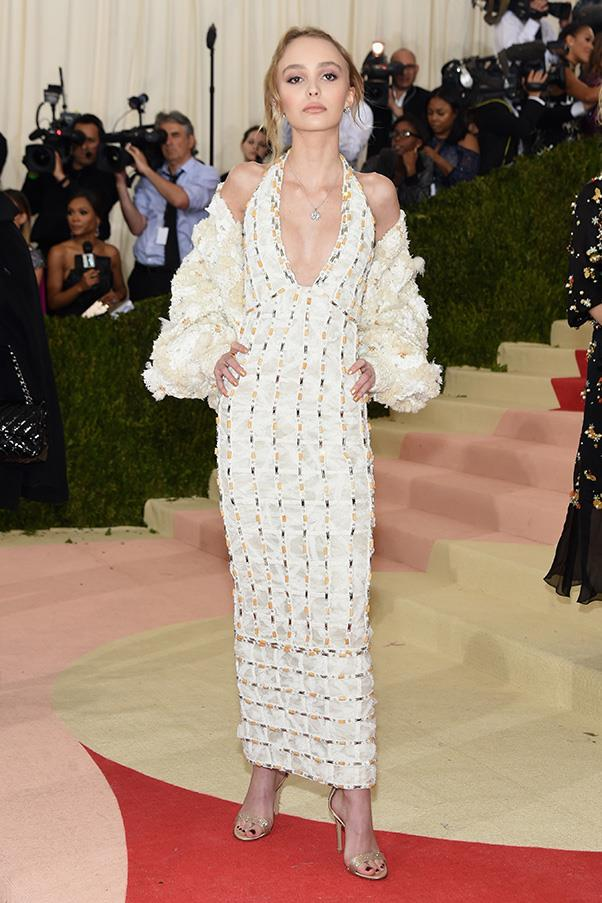 In Chanel at the Met Gala, 2016