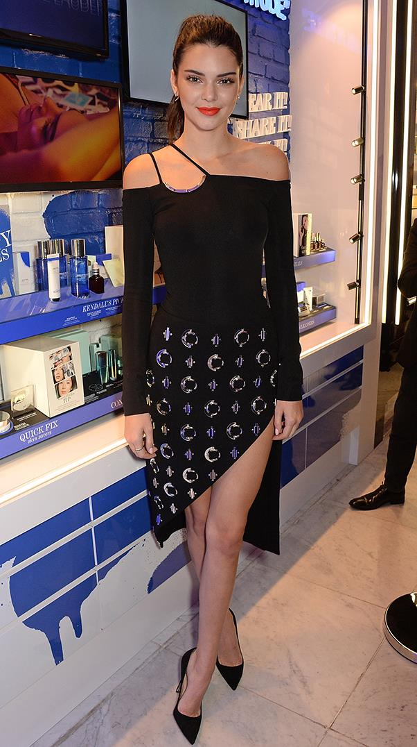 <strong>May 26, 2016</strong> <br><br> Kendall opted for a classic LBD at the Estee Edit x Selfridges Party.