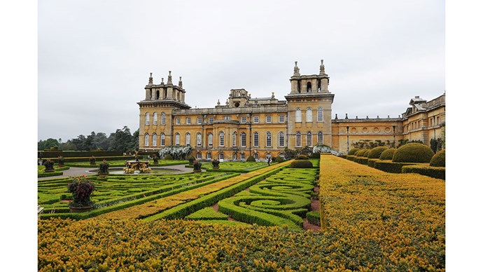 The setting at Blenheim palace.