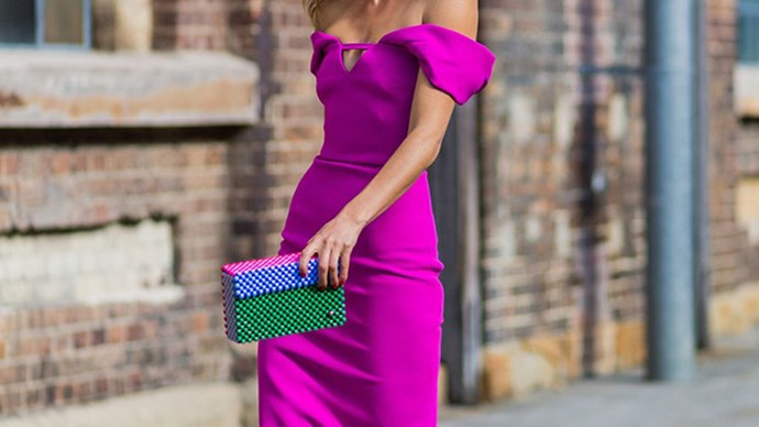 <strong>2. An evening clutch</strong> <br><br> Tanja Gacic with a Lucy Folk clutch