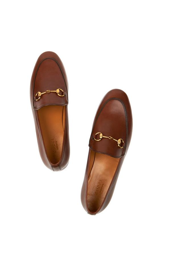 """<strong>7. A loafer</strong> <br><br> Horsebit-detailed leather loafers by Gucci, $815, <a href=""""https://www.net-a-porter.com/au/en/product/607332/Gucci/horsebit-detailed-leather-loafers"""">Net-A-Porter</a>"""