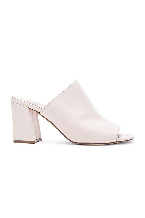 """<strong>9. A mule</strong> <br><br> Penelope leather mules by Maryam Nassir Zadeh, $601, <a href=""""http://www.fwrd.com/product-maryam-nassir-zadeh-penelope-leather-mules-in-cream-leather/MZDH-WZ2/?d=Womens&srcType=plpaltimage&list=plp-list-2"""">Forward by Elyse Walker</a>"""