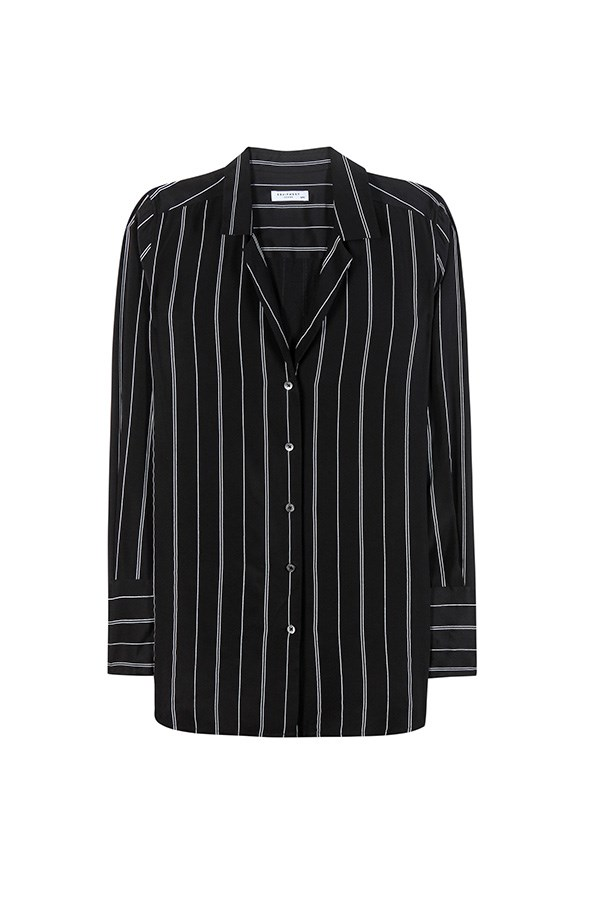 """<strong>28. A silk blouse</strong> <br><br> 'May' striped silk shirt by Equipment, $545, <a href=""""http://www.mytheresa.com/en-au/may-striped-silk-shirt.html?catref=category"""">My Theresa</a>"""